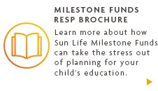 Milestone Funds RESP brochure.